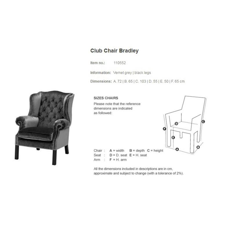 Клубное кресло Eichholtz Bradley Club 110552 фото 1