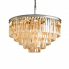 Подвесной светильник Delight Collection Odeon 10A chrome/amber 1920s Odeon