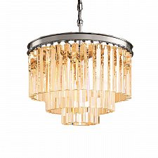 Подвесной светильник Delight Collection Odeon 6 chrome/amber 1920s Odeon