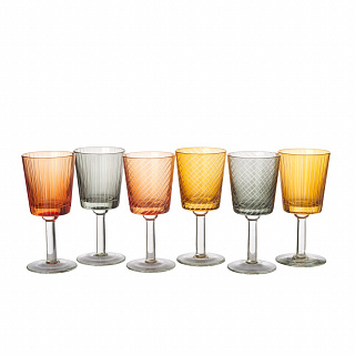 Wine glass library set 6
