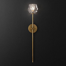 Бра Restoration Hardware Boule De Cristal Grand Single Sconce Lacquered Burnished Brass Boule De Cristal