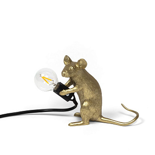 Mouse Lamp Gold Mac