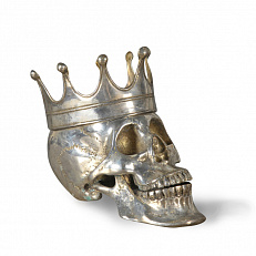 Статуэтка Ateliers C&S Davoy Silver King Skull Extraordinary Voyages BDIV111/A silver